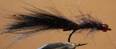 ... The KGB Leech Fly Fishing Pattern in Black & Red