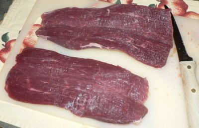 Stuffed & BBQ Venison Tenderloin Recipe ... cut open