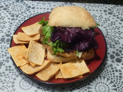 Home Made Fillet O' Sockeye Salmon Burger Sandwhich ... eat your heart out Micky D's!