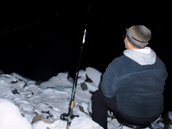 ... the wait while ice fishing burbot!