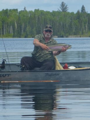 Sheridan Deep Water Chironomids - a 9.2 pound Sheridan Lake Rainbow Trout!