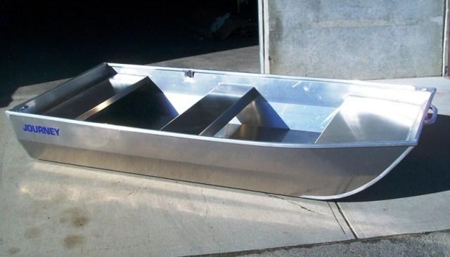 Journey boats welded aluminum flat bottom jon boats for Flat bottom fishing boats