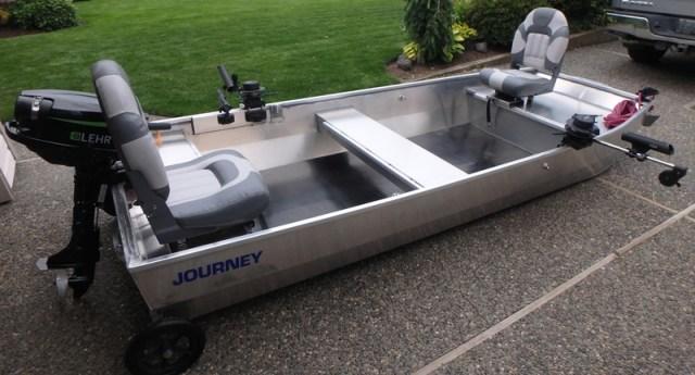 """Journey Jon Boat All Welded Aluminum Fly Fishing Punt - 11' 6"""" Custom Build"""