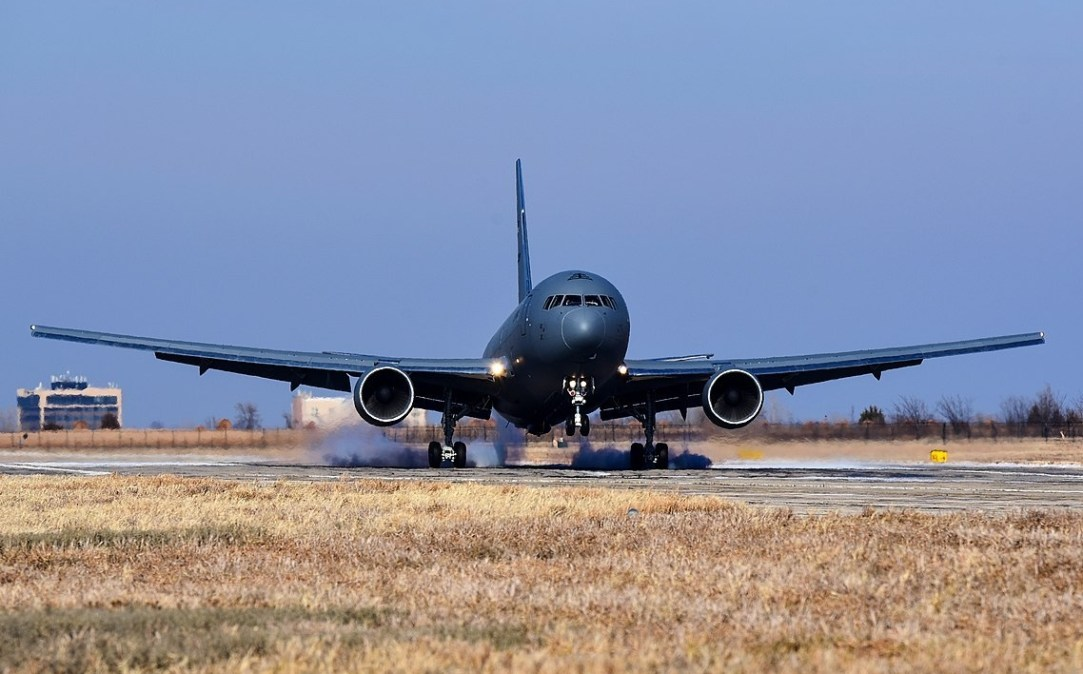 USAF's first KC-46 lands at McConnell_AFB