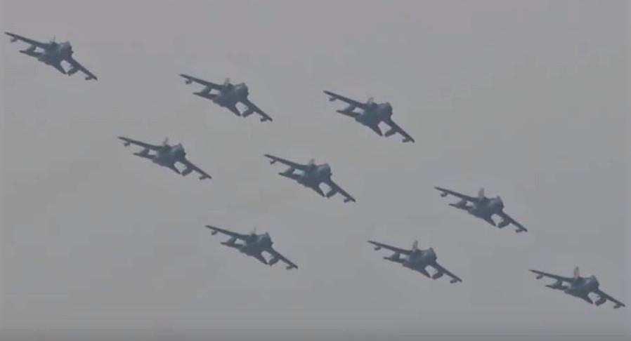 Nine Tornado Flypast
