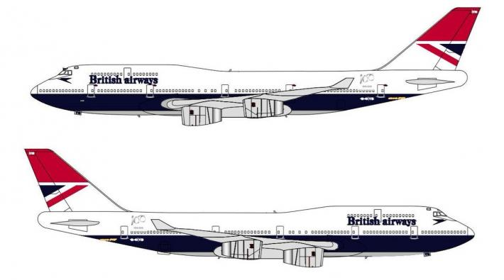 British Airways Negus livery