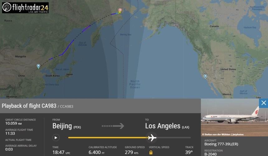 Air China Flight CA983