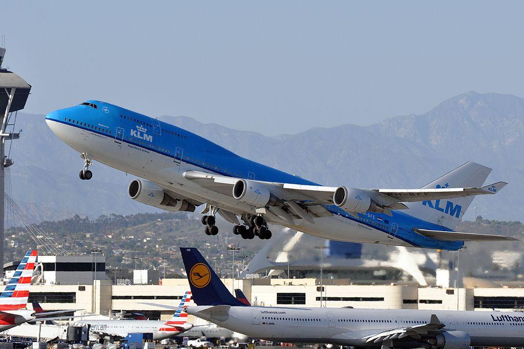 KLM B747 at LAX