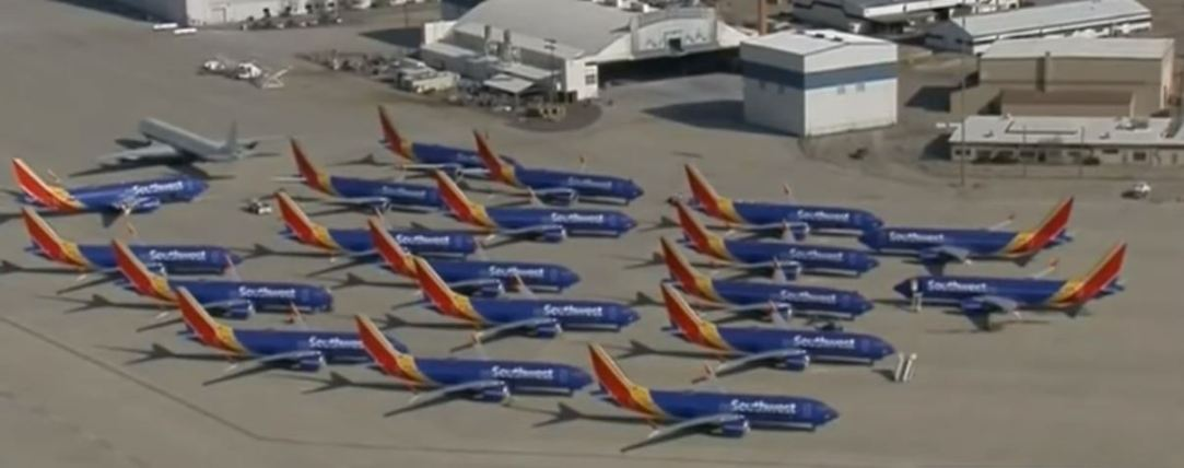 Southwest 737 MAXs at Victorville Airport