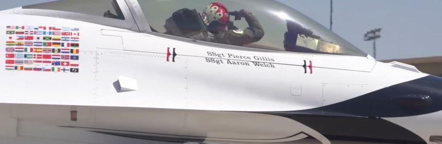 USAF Thunderbirds saluting their Ground Crew
