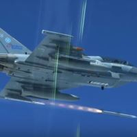 VIDEO - GERMAN AF EUROFIGHTER TYPHOON IN AERIAL COMBAT: ATTACK WITH MISSILES