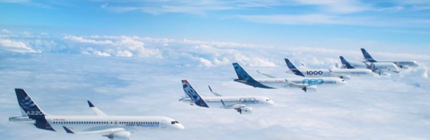 Airbus celebrates its 50th anniversary with formation flight
