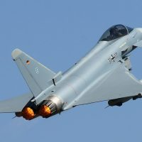 TWO EUROFIGHTER JETS HAVE COLLIDED IN MID-AIR AND CRASHED IN GERMANY