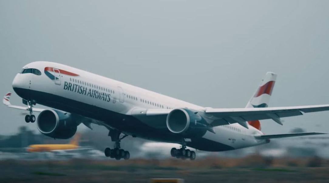 First British Airways A350 Taking Off