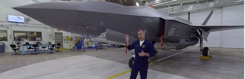 AMAZING 360 VIDEO: F-35 TEST PILOT WALKAROUND