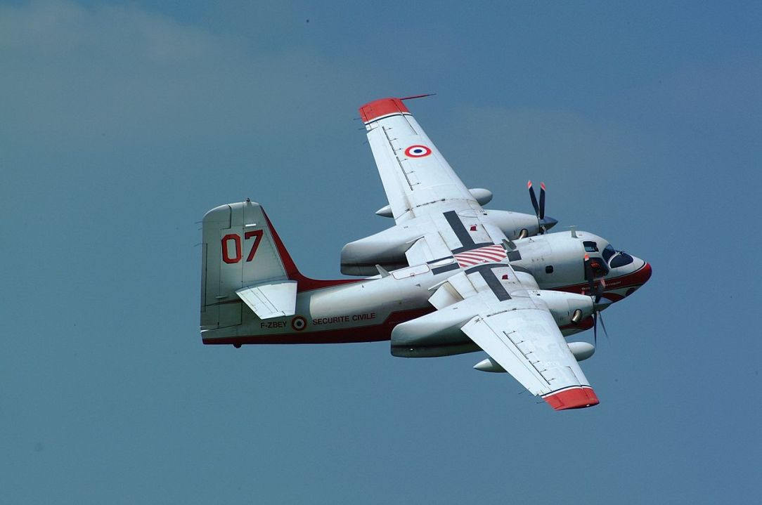 A Securité Civile Grumman S-2T Turbo Firecat crashed today