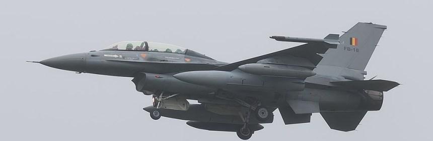 Belgian AF F-16BM crashes in France leaving pilot stuck on power line - Photo: © Jim van de Burgt