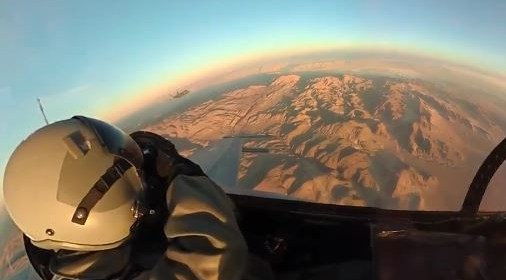 WATCH HOW THIS F-35 ACCELERATES AWAY FROM AN F-16 AS IT IGNITES THE AFTERBURNER