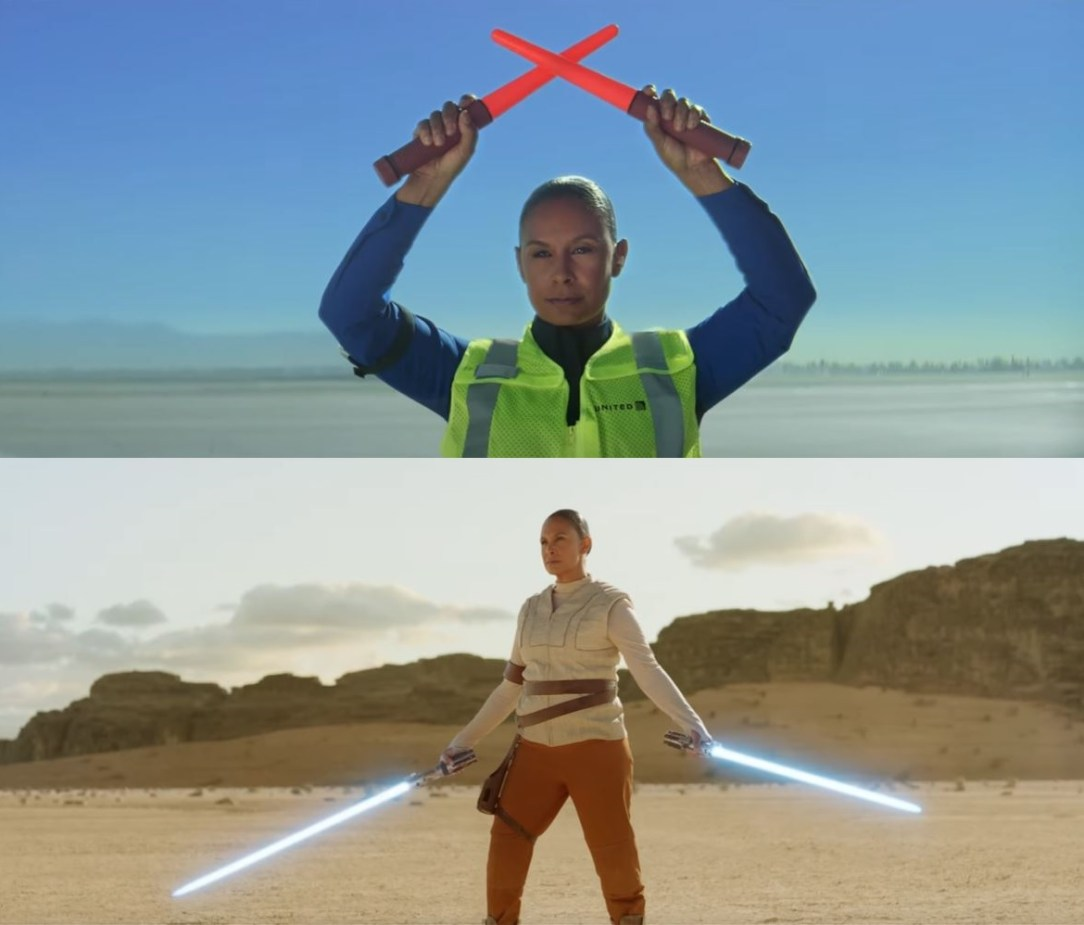 United Star Wars TV commercial with Apron Officer