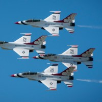 VIDEO - USAF THUNDERBIRDS PERFORMING THE LAST SHOW OF THE SEASON AT AVIATION NATION 2019