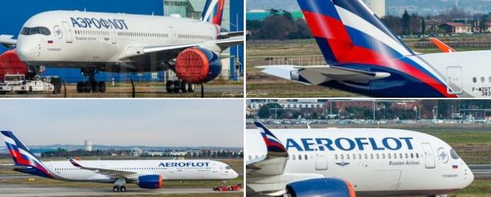 Aeroflot reveales its first A350 with new livery