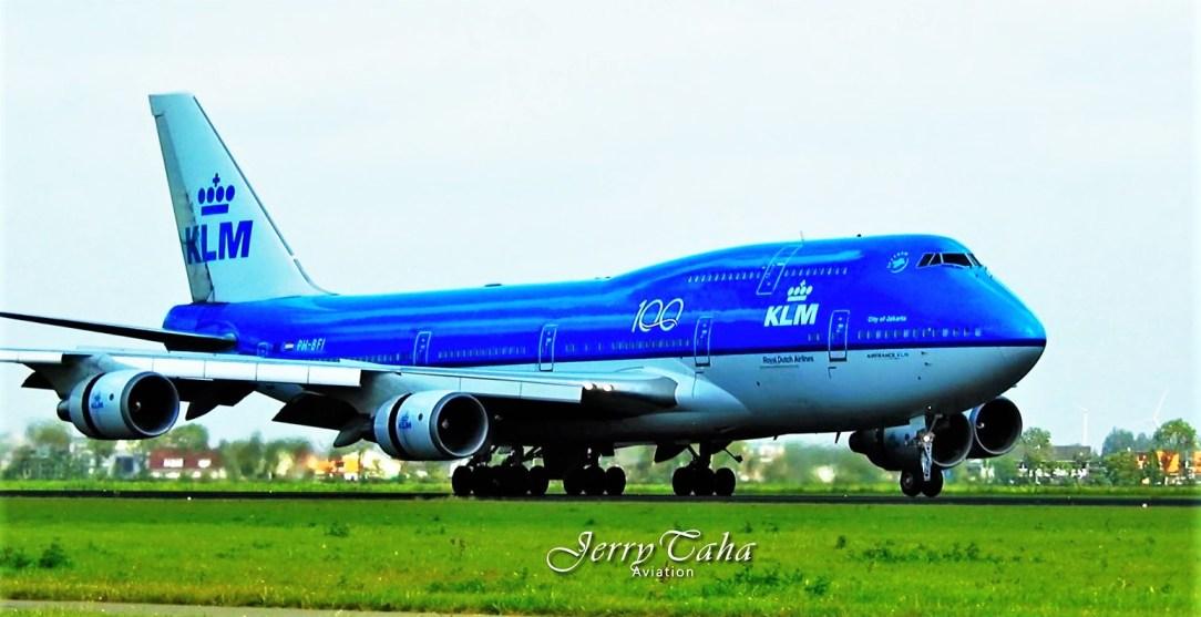 KLM has said farewell again to a Boeing 747