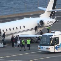 VIDEO - CRISTIANO RONALDO LANDS WITH PRIVATE JET AT MADEIRA AIRPORT