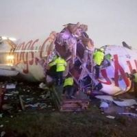 A PEGASUS BOEING 737 HAS CRASHED AT ISTANBUL SABIHA GÖKCEN INTERNATIONAL AIRPORT