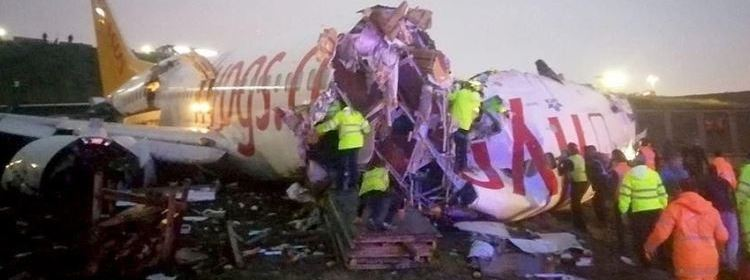 Pegasus Boeing 737 crashed at airport in Istanbul