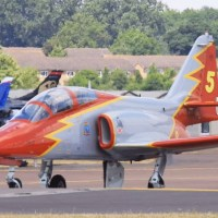SPANISH AIR FORCE PATRULLA ÁGUILA SOLO JET HAS CRASHED INTO THE SEA KILLING THE PILOT