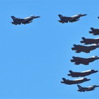 VIDEO - MASSIVE 17-SHIP FORMATION FLIGHT OF F-16s AND F-35s OVER PHOENIX