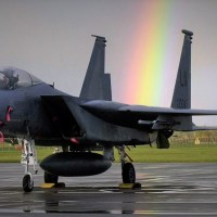 A USAF F-15 FROM RAF LAKENHEATH HAS CRASHED INTO THE NORTH SEA