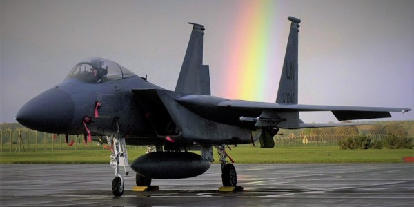 A USAF F-15 fighter jet has crashed into the North Sea