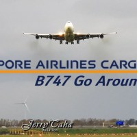 VIDEO - SINGAPORE B747 SPECTACULAR GO AROUND DURING STORM AT AMSTERDAM AIRPORT
