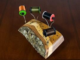 Wooden bobbin holder