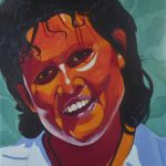 Portrait of Evonne Goolagong Cawley