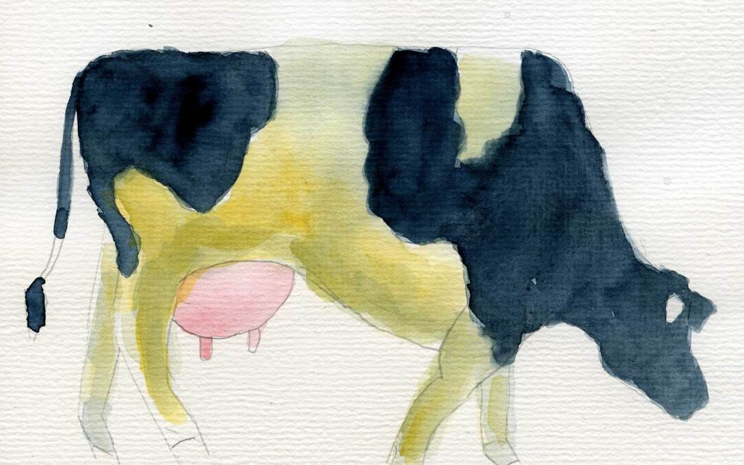 Impressionist Cow – Daily painting #461 (SOLD)