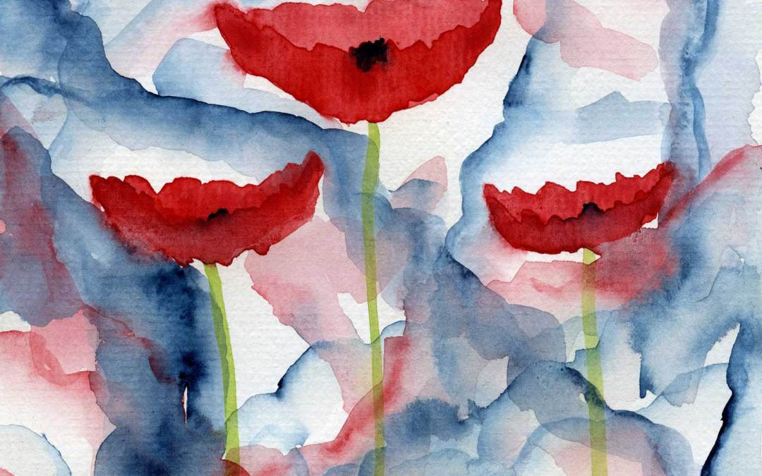 Three poppies – Daily Painting #474 (SOLD)