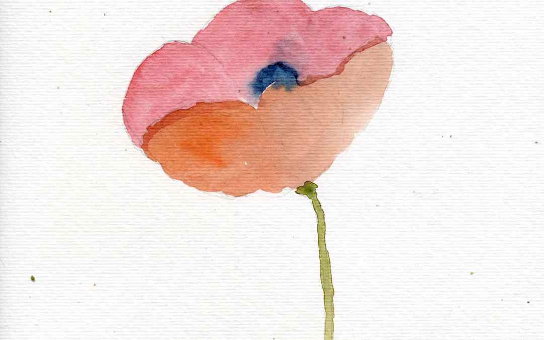 Impressionist Poppy – Daily Painting #543 (SOLD)
