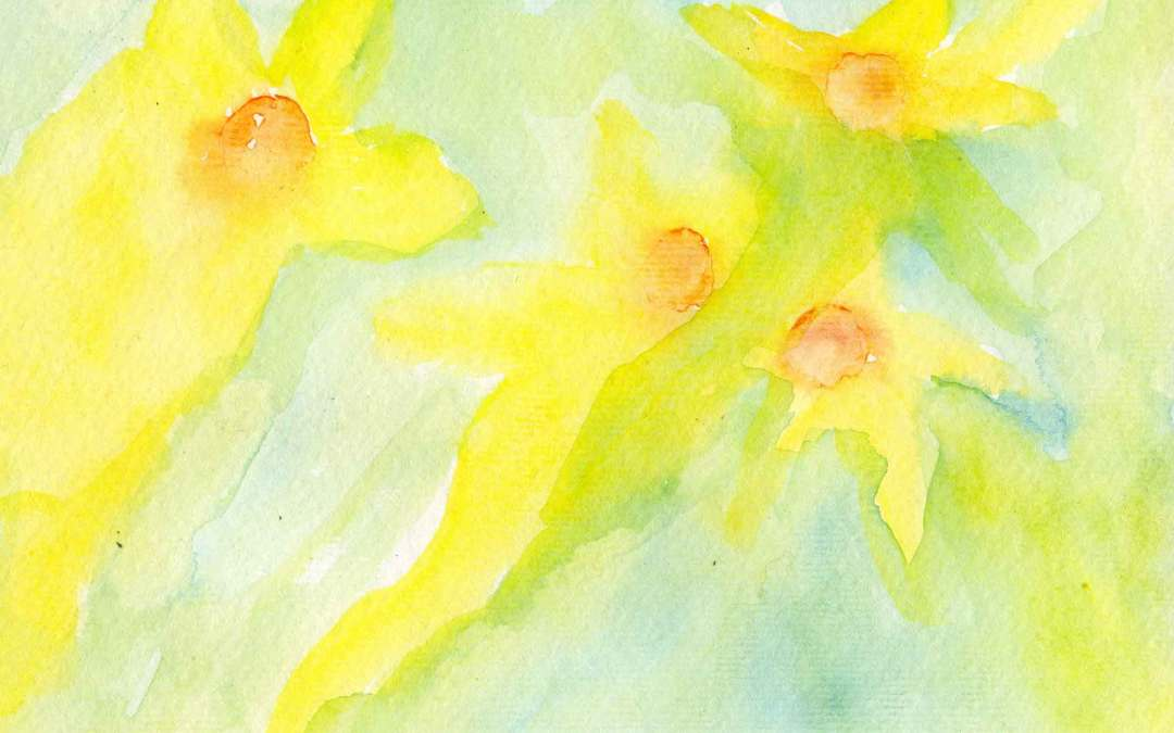 Abstract daffodils -Daily painting #567 (SOLD)
