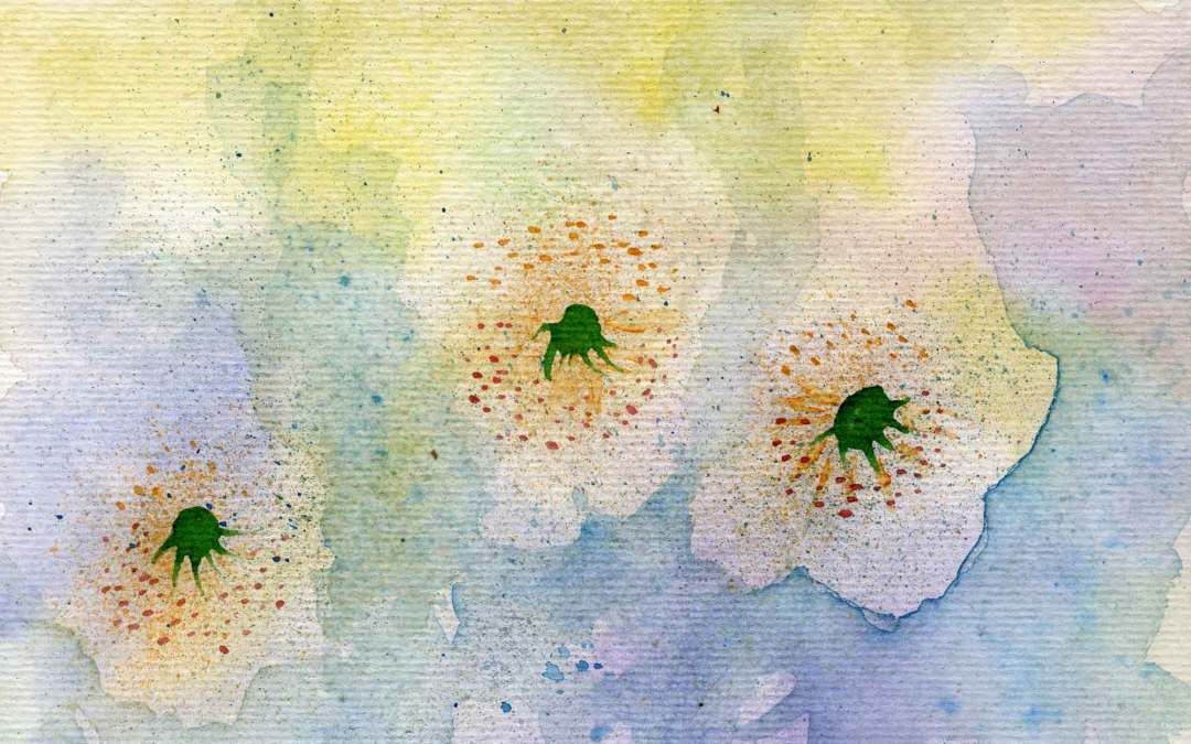 Three flowers – Daily painting #572 (SOLD)