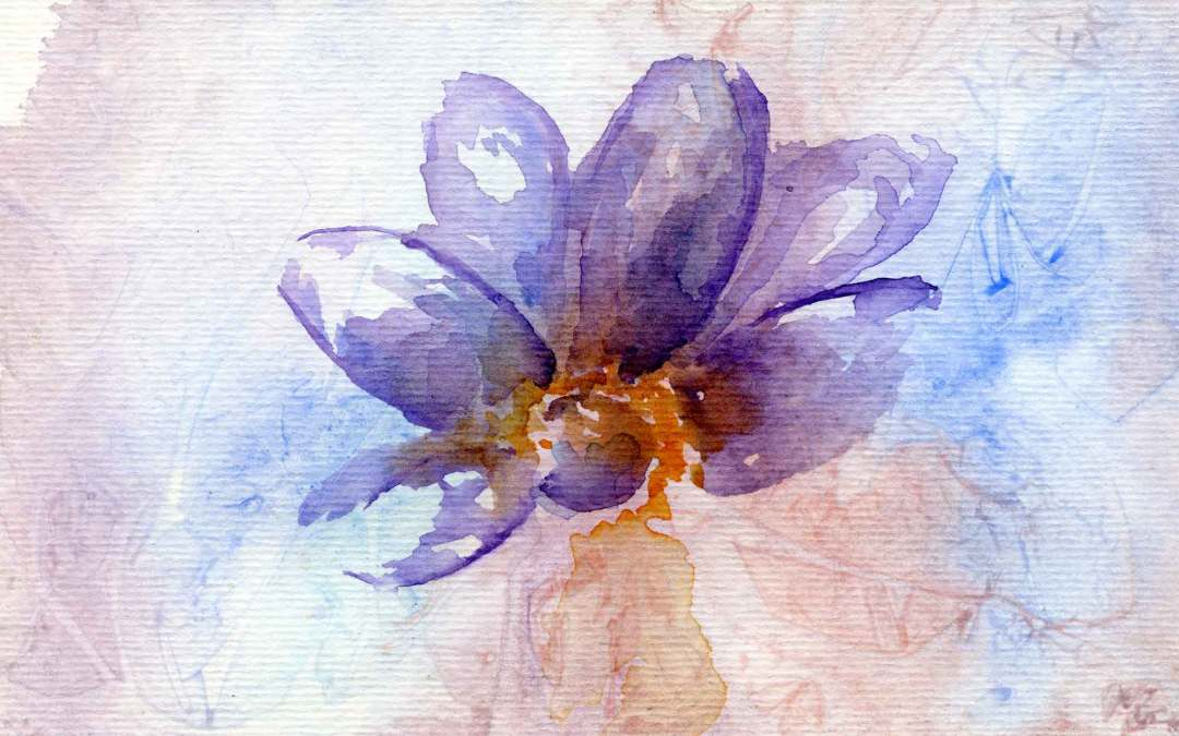 Purple flower – Daily painting #592 (SOLD)