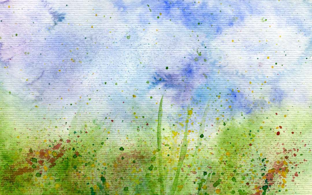 Wild flowers and grass – Daily painting #599 (SOLD)