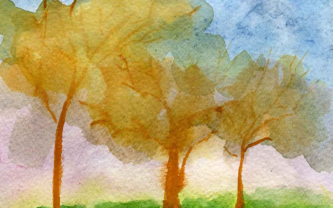 Yellow Trees – Daily painting #670