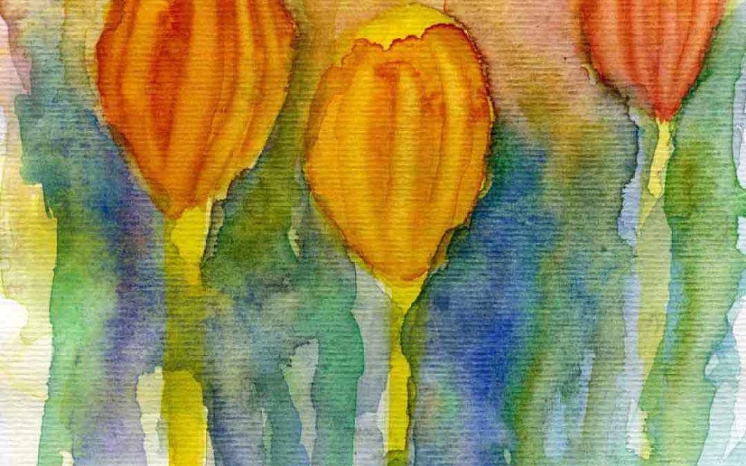Tulips #2 – Daily painting #693 (SOLD)