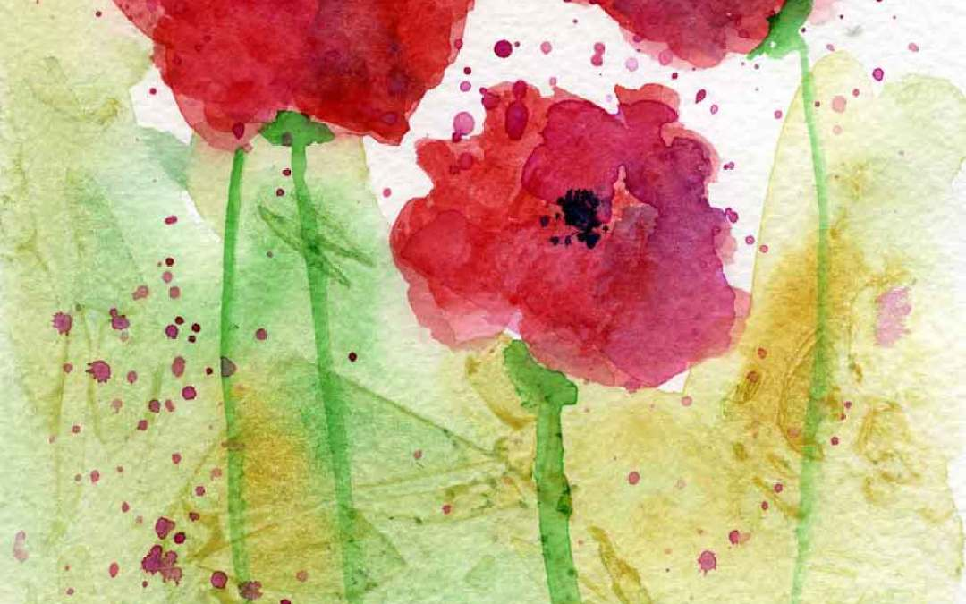 Poppies #14 – Daily painting #770 (SOLD)