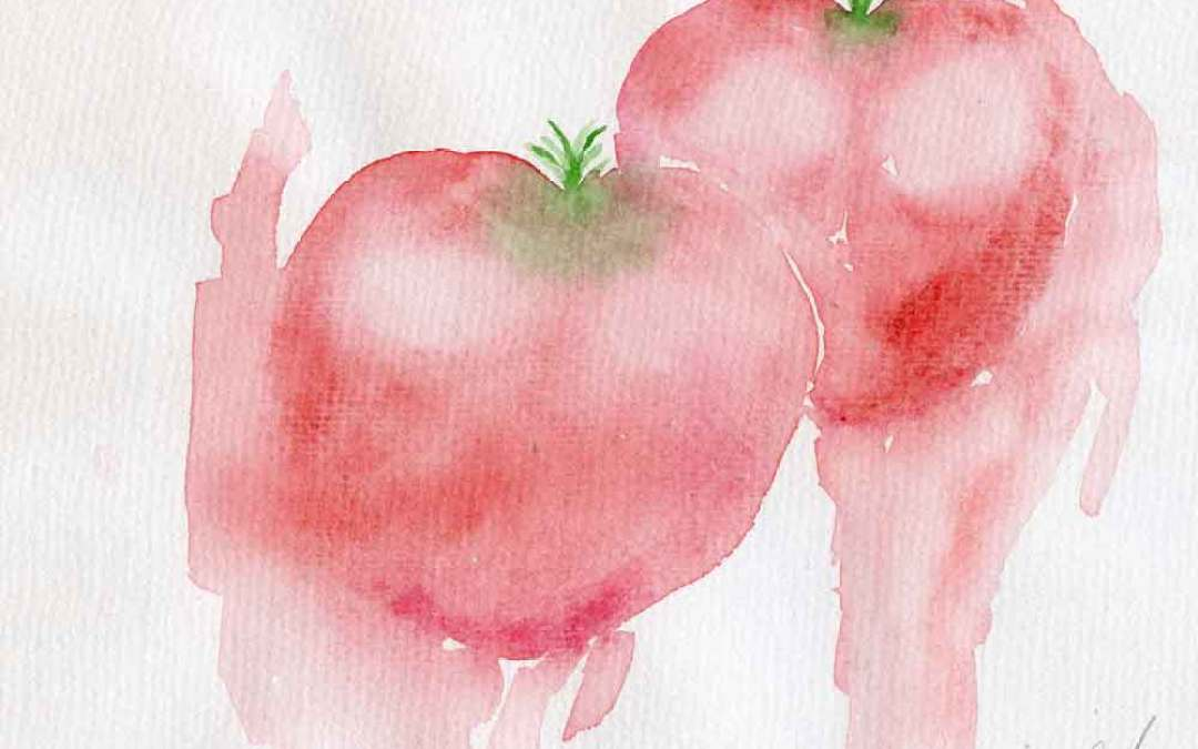 Two tomatoes – Daily painting #777