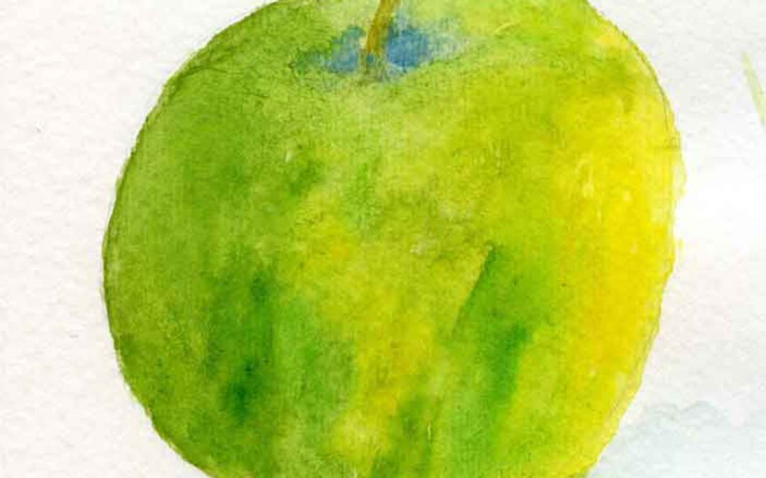 Green Apple # 2 – Daily painting #821 (SOLD)