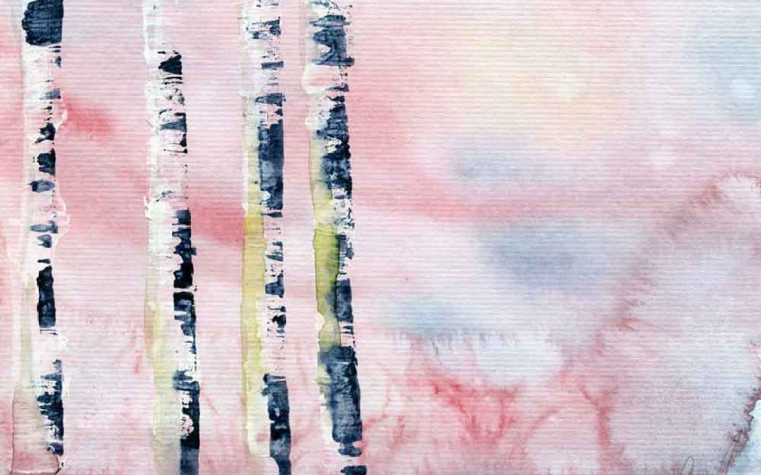 Four bare trees – Daily Painting #848