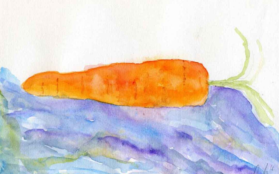 Large Carrot – Daily painting #878